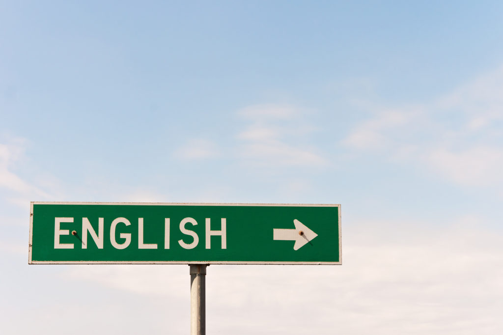 Sign for the town of English could also be used for the language, nationality, or subject in school.